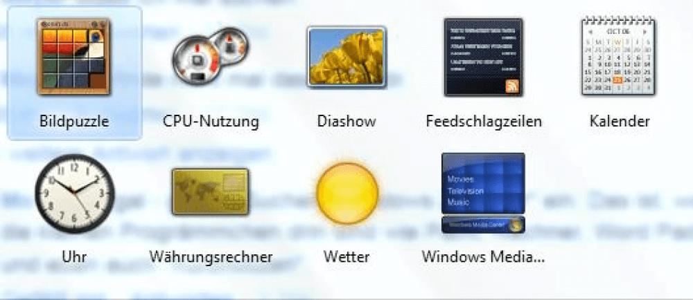 Wo sind die Notizen und das Windows Zubehör?